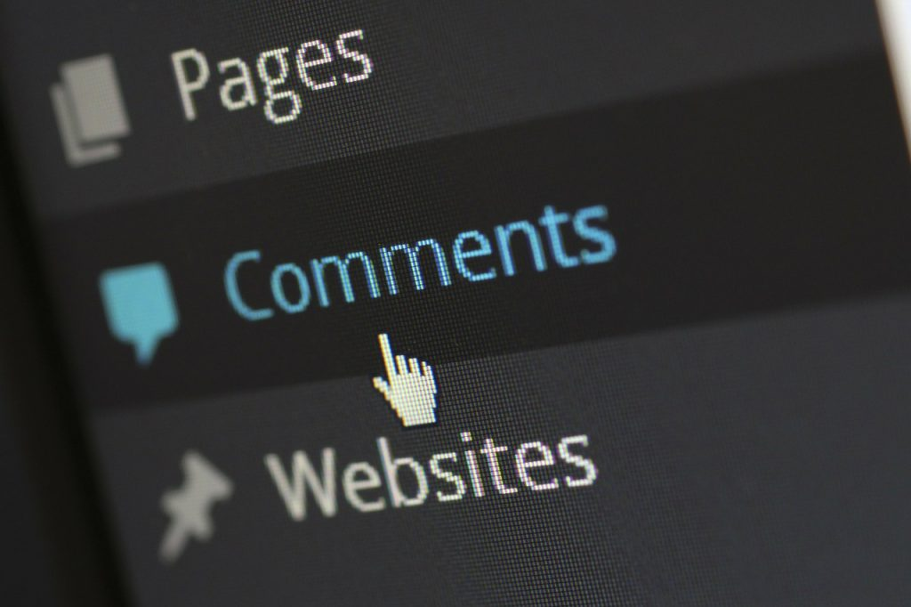 schermata di WordPress